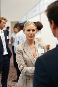 Striking up conversations with potential buyers helps you qualify prospects at a trade show.