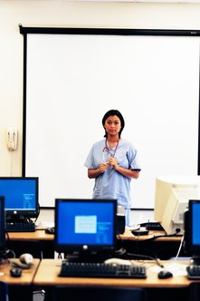 Nurse educators combine practical experience and academic training.