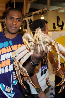 Fishermen risk their lives to supply the king crab on a restaurant menu.