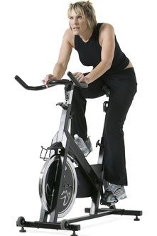 An exercise bike is a no-impact, lower-body toning workout.