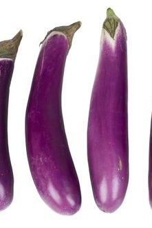 Eggplants from Asia have an elongated profile suitable for stir-fries.