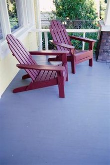 Repainting your outdoor chairs will make them look new and match your outdoor decor.