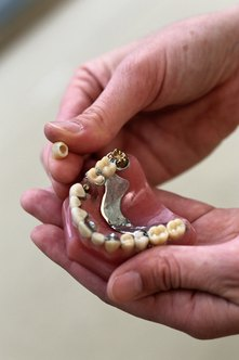 Prosthodontists work with patients who need dentures and dental implants.