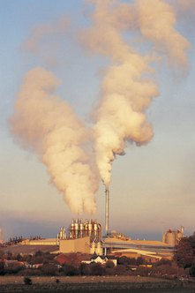 Dust from cement plants can be a hazard over large areas.