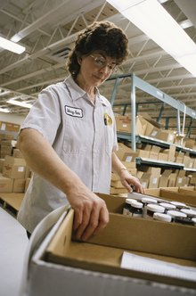 Segregation of duties and a verification system can assist a distribution center in maintaining accurate inventories.