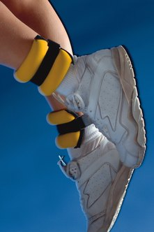 Wearing ankle weights can be more uncomfortable when doing high-speed exercises.
