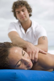 A massage therapist works in a variety of settings.