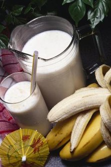 Combine milk, yogurt and a banana for a liquid meal replacement.