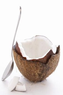 Coconuts are a fruit that grow on palm trees.
