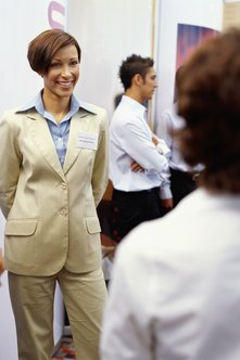 Business expos provide plentiful opportunities for networking.