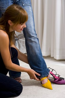 Strong customer service is a major attraction to the shoe shopper.