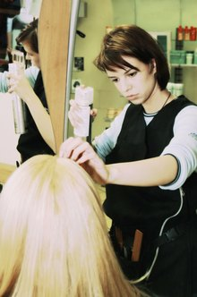 Hairdressers use hairspray as one of their tools.