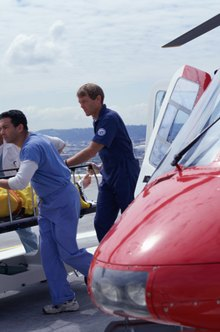 Aeromedical nurses have just seconds to treat and stabilize patients during emergency helicopter flights to a hospital.