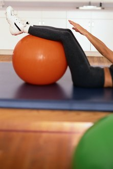 Stability balls can help make a workout more fun!
