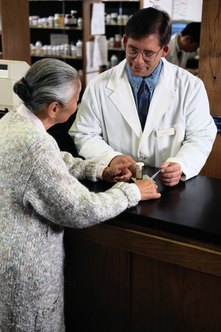 Pharmacists help patients manage illness.