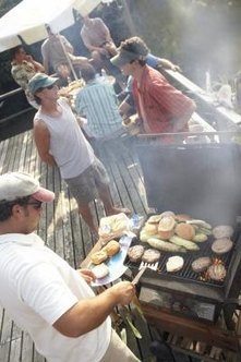 Grilling on a deck can be dangerous for family members and guests.