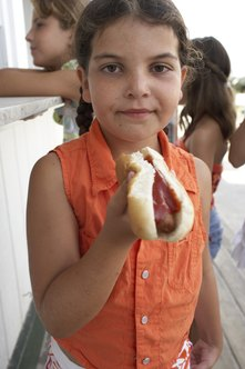 Hot dogs are a popular food at festivals and fairs.