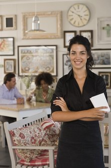 Waitresses work set shifts organized around popular dining times.