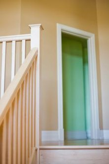 A curved piece of stair nosing creates a finished edge on your landing.