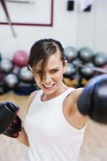 Dumbbell training will add power to your boxing punches.