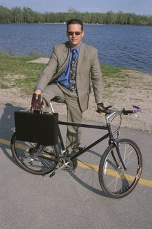 Bicycling to work sets a good example for employees.