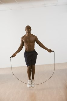 Small, fast jumps offer an intense jump rope workout.
