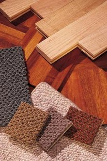 Adding a border of contrasting color to your hardwood floor insallation creates a look that is all your own.