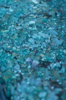 Glass mulch is made from recycled glass bottles.