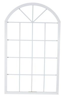 For sectional arched windows, make templates for each section.