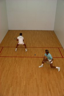 The sport of racquetball burns calories at a moderate rate.