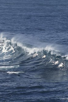 Oceanographers calculate how the surf moves.