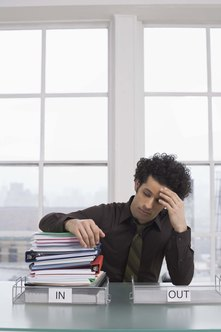 An employee's ability to cope with his workload may be adversely affected by illness.