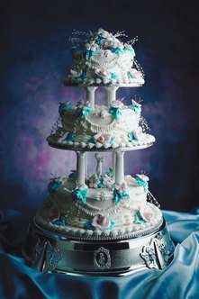 Making a tiered cake takes practice.