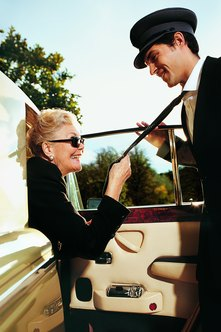 Limousine drivers transport people to weddings and other important events.