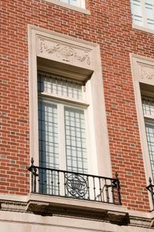 Transoms are short windows installed above windows or doors.