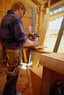 Carpenters typically complete a three- or four-year apprenticeship.