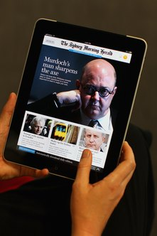 The iPad can display e-books that mix text and video.
