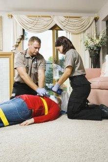 Advanced CPR includes proficiency with medical equipment and two-man techniques.
