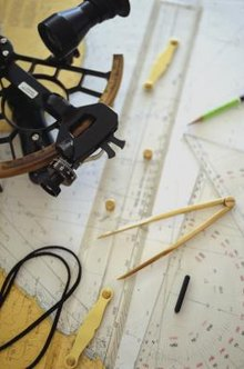 A variety of navigational instruments are used when plotting celestial or terrestrial navigation.