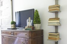 Vertical Bookshelf for Small Spaces