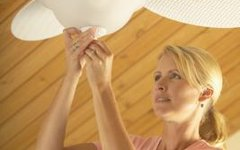How to Install a Ceiling Fan With Black, White, Red & Green Wires