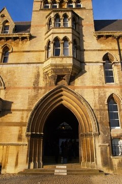 The distinguished entrance to one of Oxford's colleges