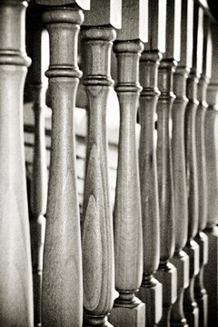 It takes special trade skills to use a lathe to produce spindles for a bannister.
