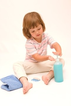 Children should learn about hand-washing.