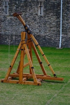 Modern catapults range from hand-size to many feet long.