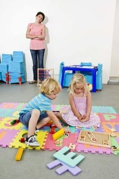 Montessori school children choose how to spend their own time.