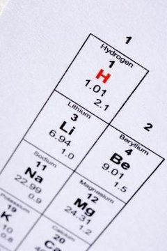 The periodic table of the elements give the atomic weights of all known elements.
