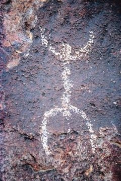 Rock paintings communicate messages.