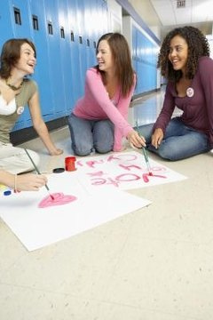 Elementary students can make a creative poster to advertise their campaign.