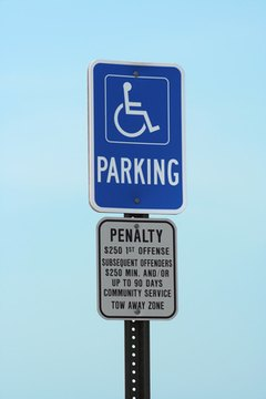 Handicapped parking spots in Georgia are regulated by law.